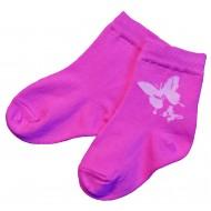 Tamsiai rožinės kojinės Drugelis