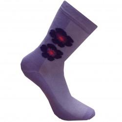 Violetinės kojinės Gėlytė