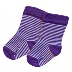 Violetinės kojinės Violetiniai dryžiai