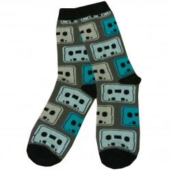 Žaismingos kojinės Skirtingų spalvų kvadratai (Melsva turkis)