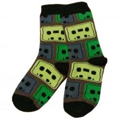 Žaismingos kojinės Skirtingų spalvų kvadratai (Mėlyna žalia)