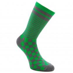 Žalios kojinės Kvadratėliai ir juostelės