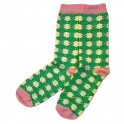 Žalios kojinės Maži rombai
