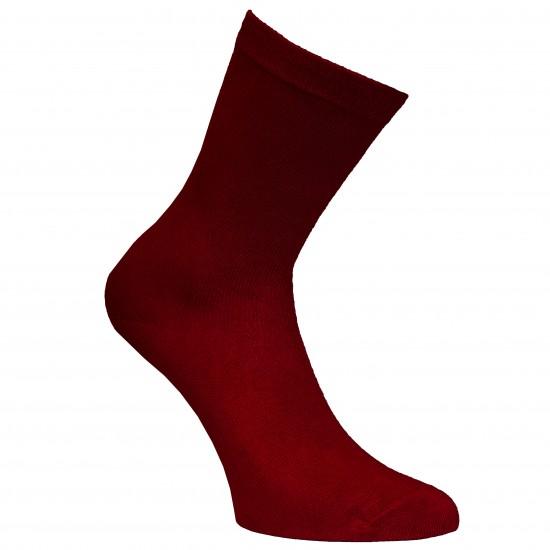 Bordo vienspalvės kojinės