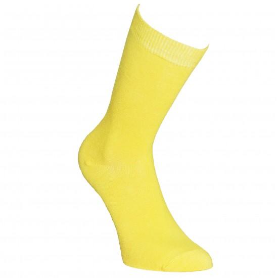 Geltonos vienspalvės kojinės Pavasaris