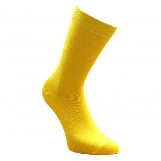 Geltonos vienspalvės kojinės Saulė