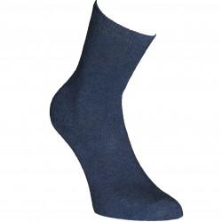 Mėlynos vienspalvės kojinės Tamsus džinsas
