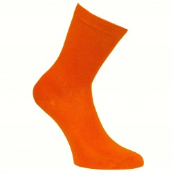 Oranžinės vienspalvės kojinės