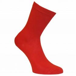 Raudonos vienspalvės kojinės