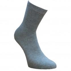 Šviesiai pilko melanžo vienspalvės kojinės