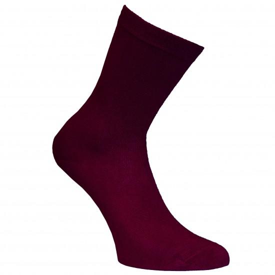 Tamsiai bordo vienspalvės kojinės