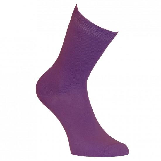 Violetinės vienspalvės kojinės Levanda
