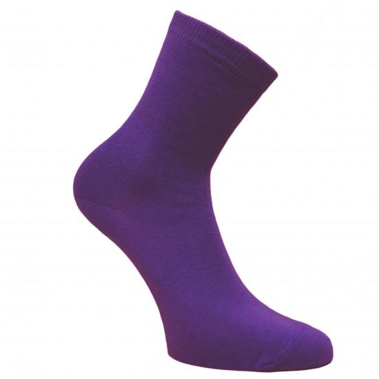 Violetinės vienspalvės kojinės Lubinai