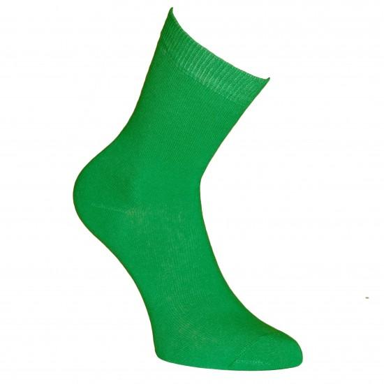 Žalios vienspalvės kojinės Obuolys
