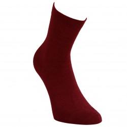 Šiltos plonos vilnonės kojinės Bordo