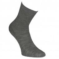 Šiltos plonos vilnonės kojinės Pilka melanžas