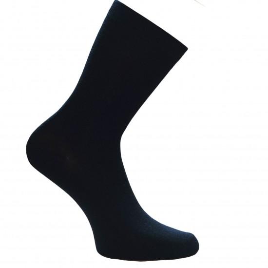 Gumuotais padais šiltos plonos vilnonės kojinės Juoda