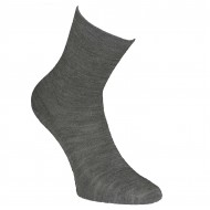Gumuotais padais šiltos plonos vilnonės kojinės Pilka melanžas