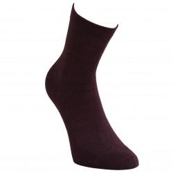 Gumuotais padais šiltos plonos vilnonės kojinės Tamsi bordo