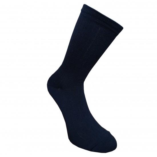 Labai švelnios Extra fine 85% merino vilnos Ripe rašto kojinės Tamsiai mėlyna