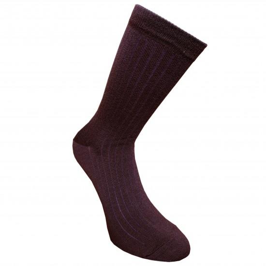 Labai švelnios Extra fine 85% merino vilnos Ripe rašto kojinės Tamsiai violetinė