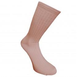 Labai švelnios Extra fine 85% merino vilnos Ripe rašto kojinės Blankiai rožinė