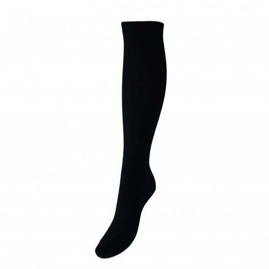 Juodos vienspalvės kojinės iki kelių