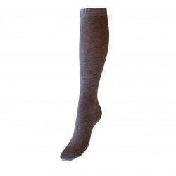 Pilkos vienspalvės kojinės iki kelių
