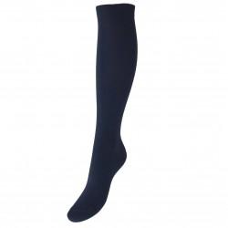Tamsiai mėlynos vienspalvės kojinės iki kelių