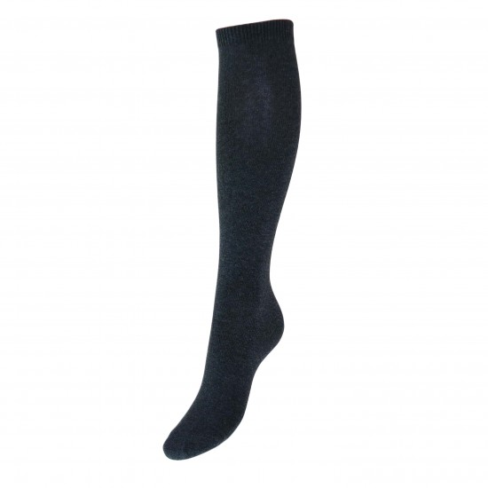 Tamsiai pilkos vienspalvės kojinės iki kelių
