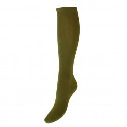 Žalios vienspalvės kojinės iki kelių Chaki