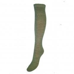 Labai švelnios Extra fine 85% merino vilnos kojinės iki kelių Pilka