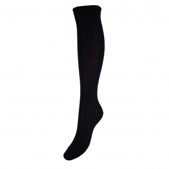 Labai švelnios Extra fine 85% merino vilnos kojinės iki kelių Tamsiai mėlyna