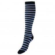 Dryžuotos kojinės iki kelių Juoda pilka