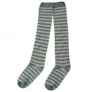 Dryžuotos kojinės iki kelių Pilka melsva