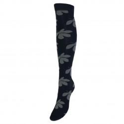 Juodos kojinės iki kelių Lapeliai
