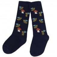 Tamsiai mėlynos kojinės iki kelių Bitutės