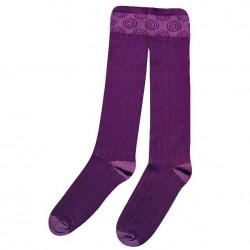 Violetinės kojinės iki kelių Rutuliukai
