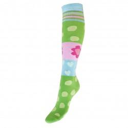 Žalios kojinės iki kelių Gėlės su burbulais