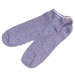 Trumpos sporto ir laisvalaikio kojinės Šviesiai pilkos su juostele