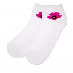 Trumpos sporto ir laisvalaikio kojinės balta Gėlytė