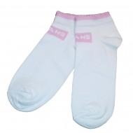 Trumpos sporto ir laisvalaikio kojinės balta šviesiai rožinė Jeans