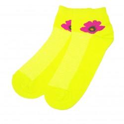Trumpos sporto ir laisvalaikio kojinės geltona Gėlytė