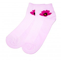 Trumpos sporto ir laisvalaikio kojinės šviesiai rožinė Gėlytė