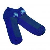 Trumpos sporto ir laisvalaikio kojinės tamsiai mėlynas Žirgas
