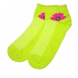 Trumpos sporto ir laisvalaikio kojinės žalia Gėlytė