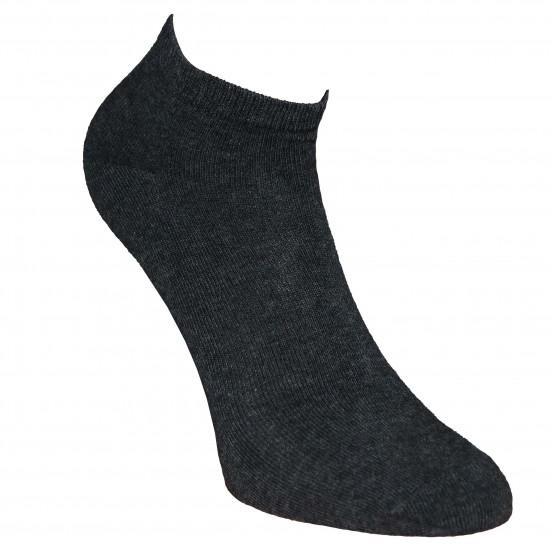 Trumpos sporto ir laisvalaikio kojinės Tamsiai pilka