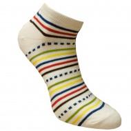 Trumpos sporto ir laisvalaikio kojinės baltos Dryžuotos