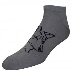 Trumpos sporto ir laisvalaikio kojinės pilkas Vilkas
