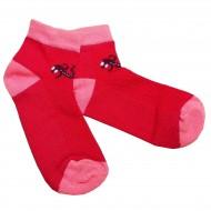 Trumpos sporto ir laisvalaikio kojinės raudonas Driežiukas